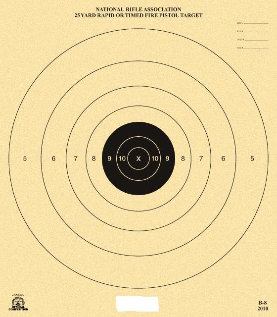 AAA NRA B-8 Target
